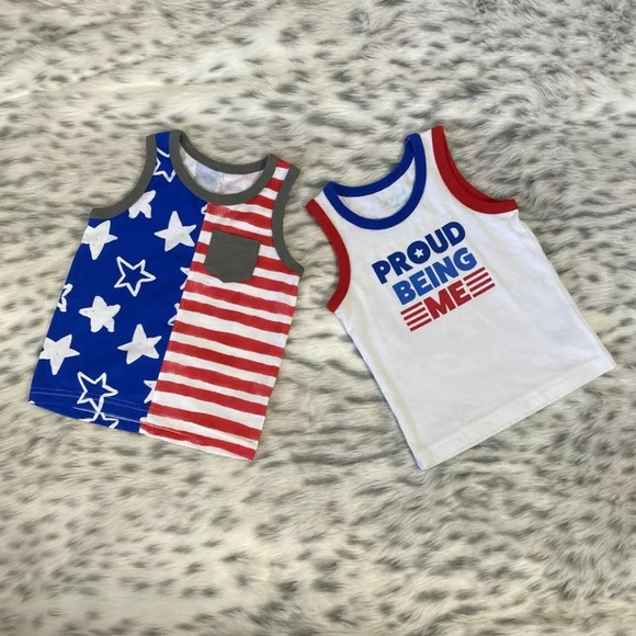 Cat & Jack Baby Boys Tank Top 4th Of July *12M